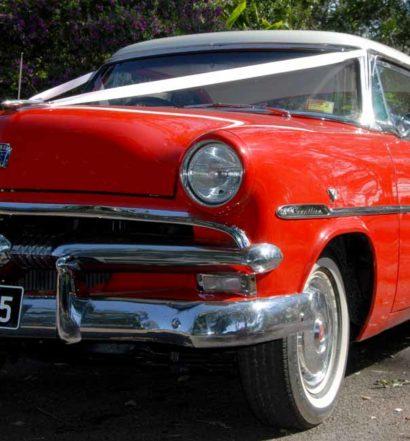 Red Wedding Cars on Tamborine Mountain