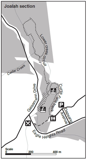 Tamborine Walking Track Map - Joalah Section