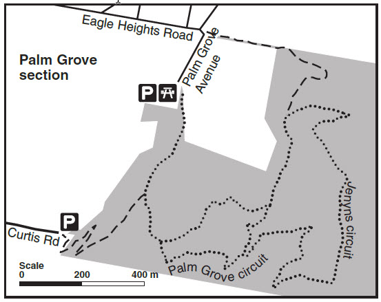 Tamborine Walking Track Map - Palm Grove Section