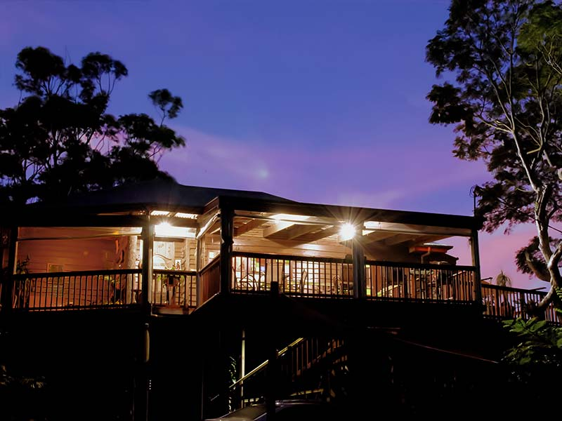 Tamborine Mountain B&B Exterior at Twilight