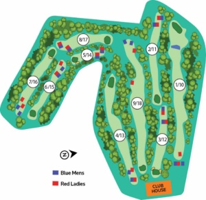 Map Tamborine Mountain Golf Course - Course Layout