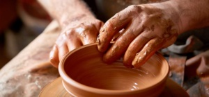 Pottery and Textiles Workshop - Potter working
