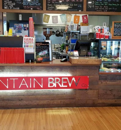 Mountain Brew Coffee Front Counter