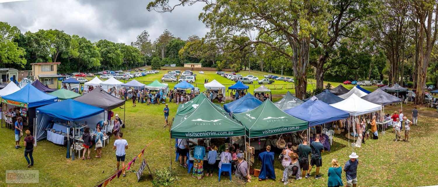 Stalls at Tamborine Mountain Country Markets