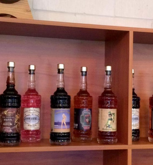 Display of Castle Glen Liquers