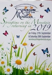 Poster Springtime on the Mountain 2019