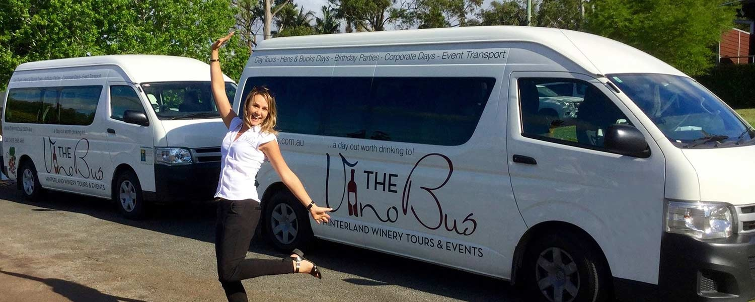 Natasha ready for Touring with The Vino Bus